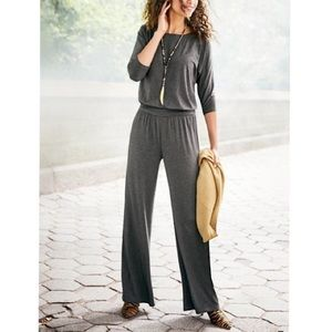 Soft Surroundings Toujours Jumpsuit Char GRY-SMALL
